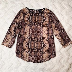The Limited Snake Print Blouse